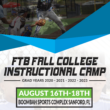 FTB FALL CAMP DATES ANNOUNCED