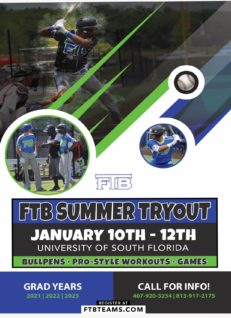 FTB Tryouts for 2020 Summer Teams